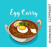 indian traditional cuisine egg... | Shutterstock .eps vector #1129996007