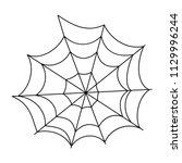 halloween cobweb vector frame... | Shutterstock .eps vector #1129996244