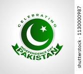 celebrating pakistan...   Shutterstock .eps vector #1130000987