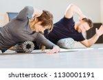 gorgeous woman instructor... | Shutterstock . vector #1130001191