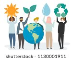 environmental conservation and... | Shutterstock .eps vector #1130001911
