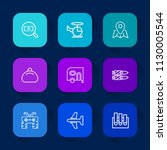 modern  simple vector icon set... | Shutterstock .eps vector #1130005544