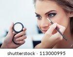 Make Up Artist Applying White...