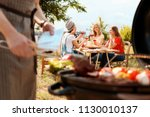 young people with glasses of... | Shutterstock . vector #1130010137