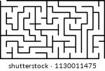labyrinth of low complexity.... | Shutterstock .eps vector #1130011475