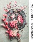 summer floral still life...   Shutterstock . vector #1130014757