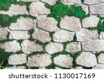 wall of decorative stone and... | Shutterstock . vector #1130017169