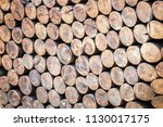 stacked with firewood for the... | Shutterstock . vector #1130017175