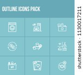 hotel icon set and laundry with ...
