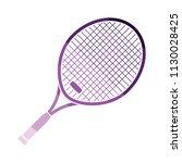 tennis racket icon. flat color...   Shutterstock .eps vector #1130028425
