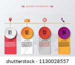 vector colorful infographic of... | Shutterstock .eps vector #1130028557