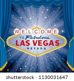 vector las vegas sign over the... | Shutterstock .eps vector #1130031647