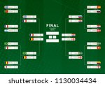 championship bracket with flag... | Shutterstock .eps vector #1130034434