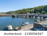 dunure bay ayrshire popular for ... | Shutterstock . vector #1130036567