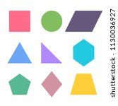 geometric figures  square ... | Shutterstock .eps vector #1130036927