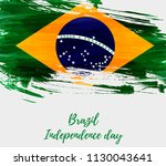 brazil independence day... | Shutterstock .eps vector #1130043641