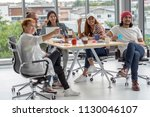 group of asian and multiethnic... | Shutterstock . vector #1130046107