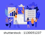 planning and time management... | Shutterstock .eps vector #1130051237