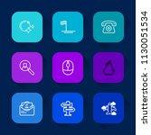 modern  simple vector icon set...   Shutterstock .eps vector #1130051534