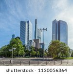 business centers in frankfurt...   Shutterstock . vector #1130056364