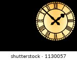 a large illuminated clock dial... | Shutterstock . vector #1130057