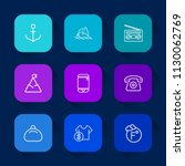 modern  simple vector icon set...   Shutterstock .eps vector #1130062769