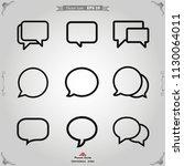 speech bubble icon vector | Shutterstock .eps vector #1130064011
