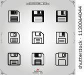 floppy disk icon vector | Shutterstock .eps vector #1130064044