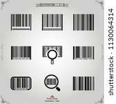 barcode icon vector. | Shutterstock .eps vector #1130064314