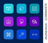 modern  simple vector icon set... | Shutterstock .eps vector #1130064374