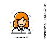 female user avatar of startup... | Shutterstock .eps vector #1130069684