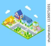 isometric city infrastructure... | Shutterstock .eps vector #1130071031