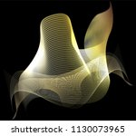 abstract gold waves design.... | Shutterstock .eps vector #1130073965
