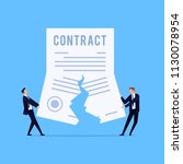 cancellation of a contract.... | Shutterstock .eps vector #1130078954