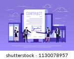 vector concept of e signature.... | Shutterstock .eps vector #1130078957