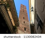 noli medieval tower village in... | Shutterstock . vector #1130082434