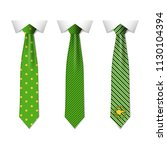 set different green ties... | Shutterstock .eps vector #1130104394