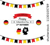 germany happy unity day  3 rd... | Shutterstock .eps vector #1130105789