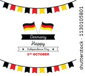 germany happy unity day  3 rd... | Shutterstock .eps vector #1130105801