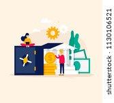 online banking  online payment  ... | Shutterstock .eps vector #1130106521