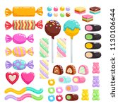 colorful candies set   hard... | Shutterstock .eps vector #1130106644