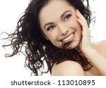portrait of attractive ... | Shutterstock . vector #113010895