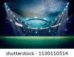 lights at night and stadium 3d... | Shutterstock . vector #1130110514