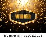 retro light banner. vector... | Shutterstock .eps vector #1130111201