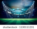 lights at night and football... | Shutterstock . vector #1130111231