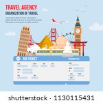 design for travel agency. time... | Shutterstock .eps vector #1130115431