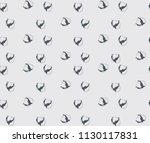 cotton bud leaf flower vector... | Shutterstock .eps vector #1130117831