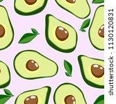 healthy food. avocado print.... | Shutterstock .eps vector #1130120831