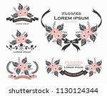 flower design set | Shutterstock .eps vector #1130124344