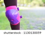 knee protection support or pink ... | Shutterstock . vector #1130130059